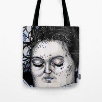 laura palmer Tote Bags featuring Laura Palmer by Drawn by Nina