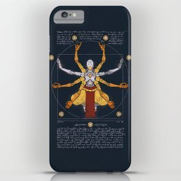 Vitruvian Omnic - color version iPhone Case