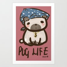 'Pug Life' Art Print