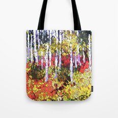 Title: Glorious Colors - digital Silk Screen Tote Bag