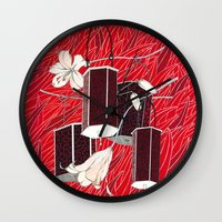 lantern Wall Clocks featuring Lantern by Anya Pany