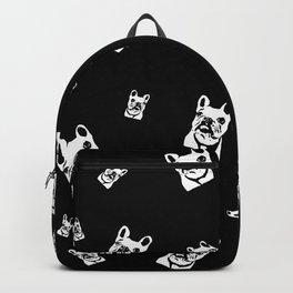 French Bulldog Black White Backpack