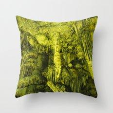 Caves of Zeus Throw Pillow