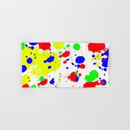 Colorful Paint Splatter. Hand & Bath Towel