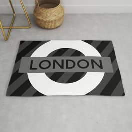 Black and White London Rug