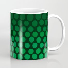 Emerald Green Ombre Dots Coffee Mug