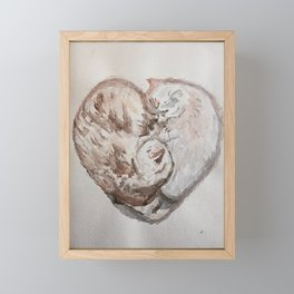 Cuddle Heart Framed Mini Art Print