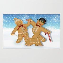Gingerbread Family Winter Fun Rug
