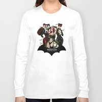 selena Long Sleeve T-shirts featuring the Gotham Sirens by Esteban Barrientos