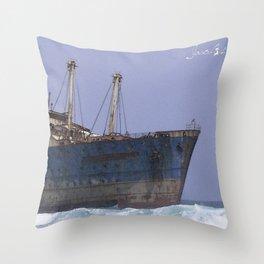 Blue boat colors fashion Jacob's Paris Throw Pillow
