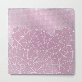 Ab Lines 45 Pink Metal Print