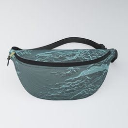 Abstract mountains with sea Fanny Pack