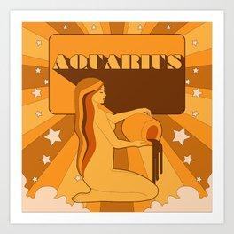 AQUARIUS ORANGE Art Print
