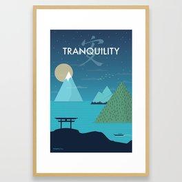 Tranquility (Night) Framed Art Print