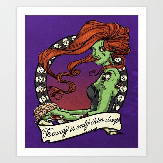 Beauty is only skin deep... Art Print