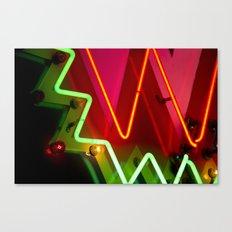 Neon sign closeup Canvas Print