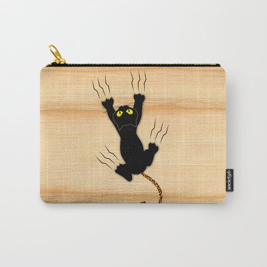 Cat Climbing Carry-All Pouch