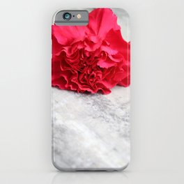 One Pink Carnation iPhone Case