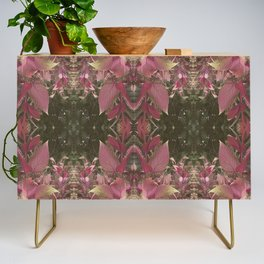Red Shiso Warm Tones Pattern Credenza