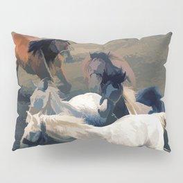 Breaking Away   -  Wild Horses Pillow Sham