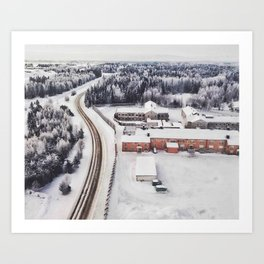 Winter view from the sky Art Print