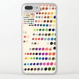 Artist Color Swatches - watercolor, prisma, paints Clear iPhone Case