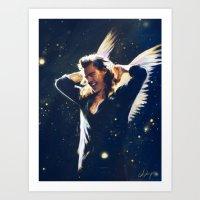 Hey Angel Art Print