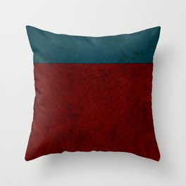 Blue and orange suede Throw Pillow