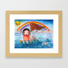 SailAway by Kylie Fowler Framed Art Print