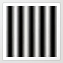 Simple Black & White Licorice Cabana Stripe Art Print
