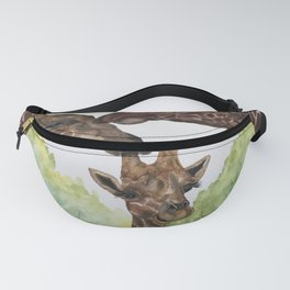 Giraffe Love by Maureen Donovan Fanny Pack