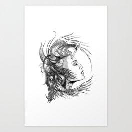 BikerChick Art Print