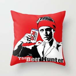 The Beer Hunter Throw Pillow