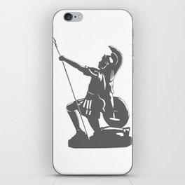 Kneeling Warrior iPhone Skin