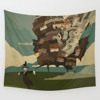 castle Wall Tapestries featuring Moving Castle by Danny Haas