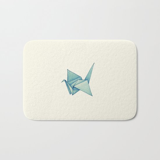 High Hopes | Origami Crane Bath Mat