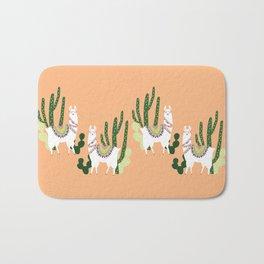 Cute Llama Pattern Bath Mat
