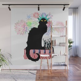 Lady Liberty - Patriotic Le Chat Noir Wall Mural