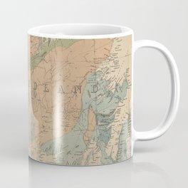 Vintage Geological Map of Newfoundland (1875) Coffee Mug