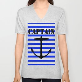 Captain and anchor logo Unisex V-Neck