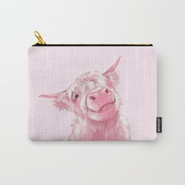 Highland Cow Pink Carry-All Pouch