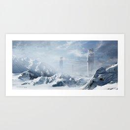 Icy City Art Print