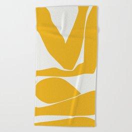 Yellow anatomy Beach Towel