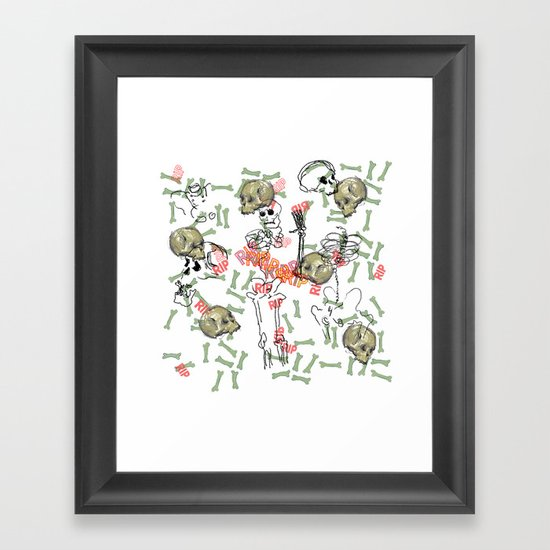 R.I.P. Funky skull joy death thing... I belive  Framed Art Print