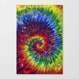 Celestial Rainbow Swirl Canvas Print