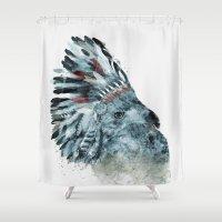 hawk Shower Curtains featuring the elder hawk by bri.buckley