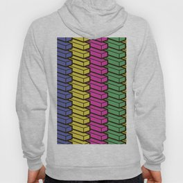 colorful abstract cube pattern Hoody