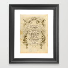 Tears are the Very Wine of Blessedness Framed Art Print