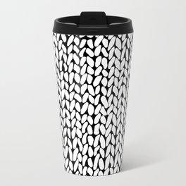 Hand Knitted Loops Metal Travel Mug