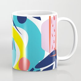 Bright Colorful Abstract Shapes Paper Cut Coffee Mug